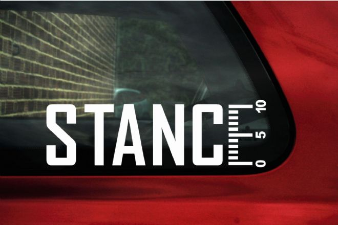 STANCE RULER. Lowered VAG, JDM, stanced car sticker / Decal
